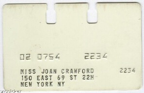 Joan's pharmacy card from the Clayton and Edwards Pharmacy in NYC.