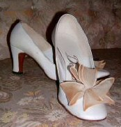 Joan's shoes, from hairdresser Sydney Guilaroff's collection. Ebay auction 4/04.