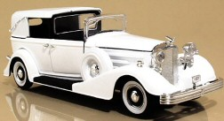 6-in. diecast model of Joan's specially made 1933 V-16 Cadillac Town Car by Fleetwood. The actual car was purchased at Hillcrest Motors in LA, where as of 1973 it's resided as part of that co.'s historic auto collection.