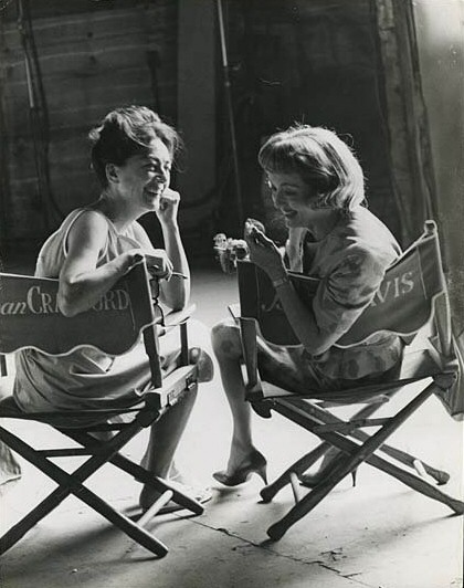 With Bette Davis on the 'Baby Jane' set. (Thanks to Oliver Geiger.)