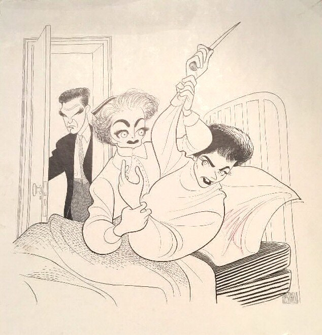 1963. A 'Caretakers' cartoon by Al Hirschfeld.