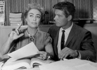 Joan with co-star Stephen Boyd on the 'Best of' set.