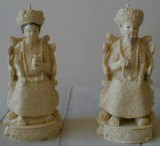Part of Joan's Kuan-Yin porcelain collection.