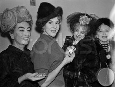 From left: Joan, socialite Eleanor Searle Whitney, actress Betsy Palmer, Celeste Holm