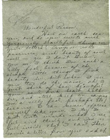 March 1928 to Dan Mahony. Page 1.