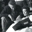 With director Nicholas Ray on the set of 'Johnny Guitar.'