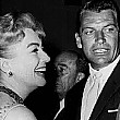 1958, with Richard Egan at unknown event.