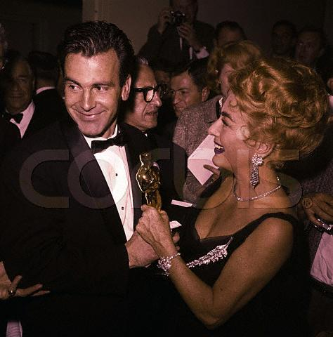 April 9, 1962. With Maximilian Schell.