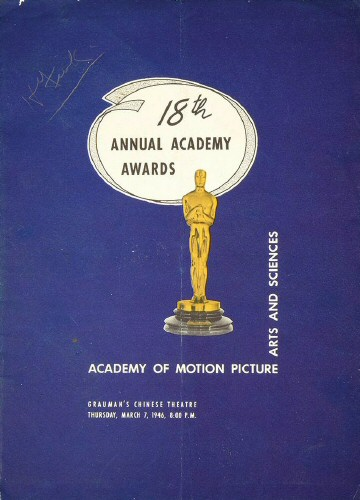 Program for the March 7, 1946, Oscars.