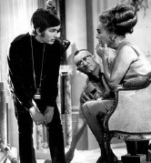 1969. Joan with Steven Spielberg, making his directorial debut on TV's 'Night Gallery.'