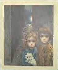 'Lost' by Margaret Keane. Seen in Joan's apartment.