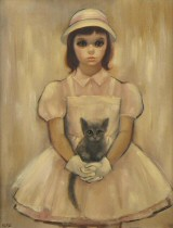 Girl With Kitten.