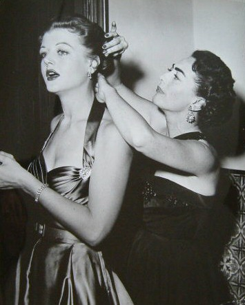 Circa 1952, with Angela Lansbury at the Masquers Revel.