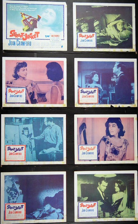 Complete set of US lobby cards. Each 11 x 14 inches.
