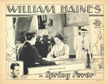 US lobby card. 'Business is looking up!'