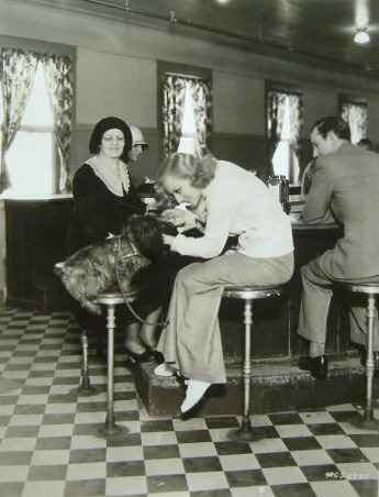 1931. With Ma and Scottie dog.