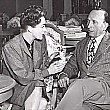 On the set of 'Mildred Pierce' with director Michael Curtiz.