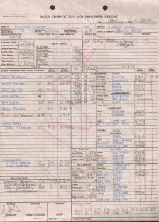 'Mildred' production schedules for  12/13/44 and 2/23/45. Click to see full images.