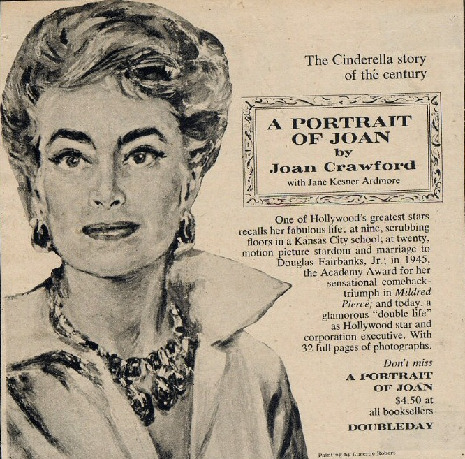 1962 Doubleday ad for 'Portrait of Joan.'