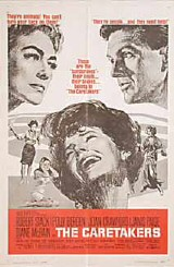 A poster for 1963's 'The Caretakers,' featuring Bergen, center, and Joan at upper left.