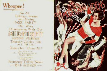 Flyer for midnight show. Image courtesy of Silent Film Still Archive.