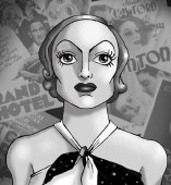 German artist Michael Richter's individual screen shots that make up his 'Joan Crawford: Drawing Icons' video.