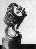 1941 sculpture of Joan by Yugoslavian artist Yucca Salamunich, inscripted 'To Christina.' Commissioned for 'A Woman's Face,' the sculpture made a reappearance in 1964's 'Strait-Jacket.'