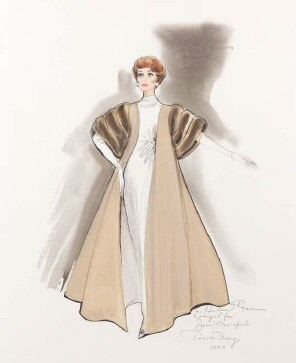 Costume sketch by Helen Rose.