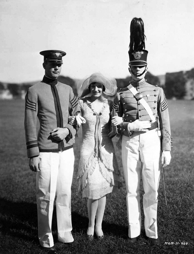 1928. 'West Point.' With William Haines, right.