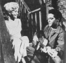 Elvis with Tuesday Weld in 1961's 'Wild in the Country.'