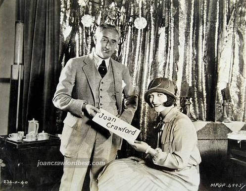 September 1925, with MGM exec Harry Rapf.