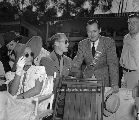 7/23/38. With husband Franchot Tone and Robert Montgomery.