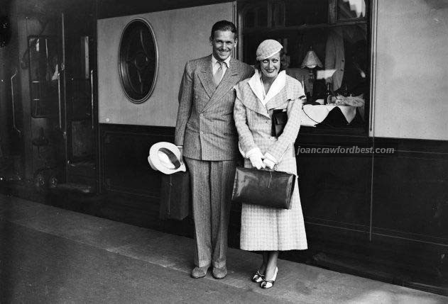 July 1932. Joan and Doug at Waterloo Station.