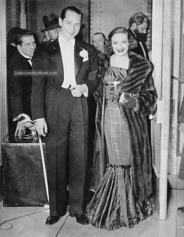 1936, with husband Franchot Tone.