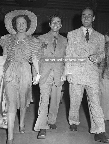August 1939, with Charles Martin and Sydney Guilaroff.