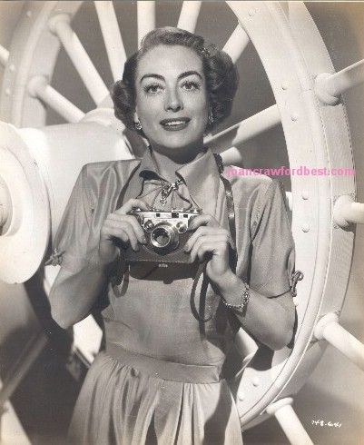 1951. Joan promoting Foton cameras in conjunction with the release of 'Goodbye My Fancy.'