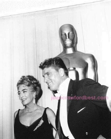 April 9, 1962. At the Oscars, with Burt Lancaster.