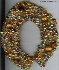 A collar encrusted with semi-precious stones, including topaz. From a Roslyn Herman auction.