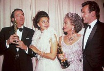 From left: Gregory Peck, Sophia Loren, Joan, Maximilian Schell. 1962.