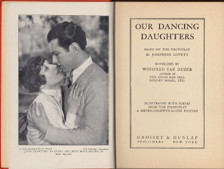 1928. 'Our Dancing Daughters' novelization, title page.
